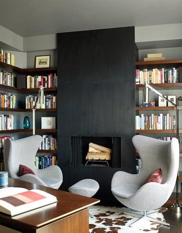 Favorit Habillage cheminée avec mur bibliothèque PQ44
