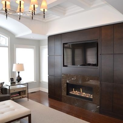 comment installer une thermo chemin e avec un t l viseur yourfire. Black Bedroom Furniture Sets. Home Design Ideas