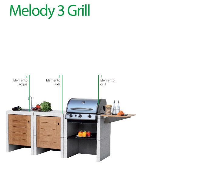 Cucina da esterni Melody