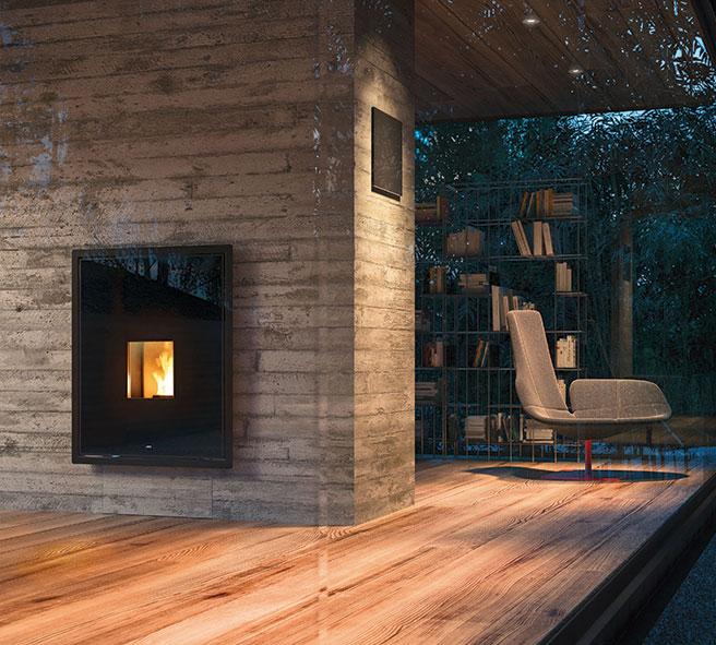 5 idee per valorizzare la stufa yourfire - Stufe a pellet a parete ...