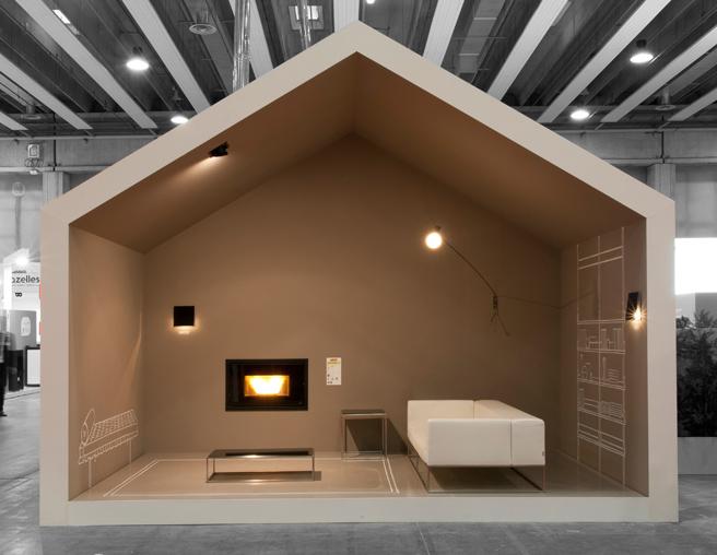 Pellet fireplace MCZ