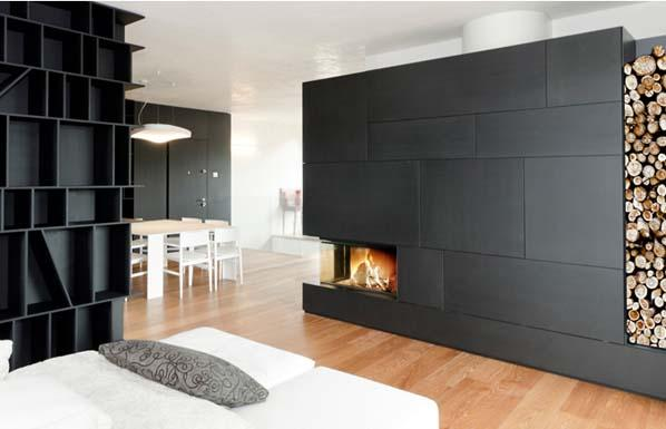 habillage pour chemin e bois yourfire. Black Bedroom Furniture Sets. Home Design Ideas