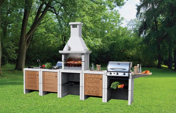 Barbecue yourfire - Cucina in muratura per esterni con barbecue ...
